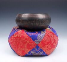 Tibetan LARGE Silk Dragon Flowers Pillow Cushion Stand Easel For Singing Bowl #3