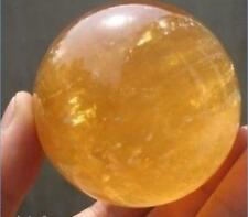 NATURAL CITRINE 40MM CRYSTAL SPHERE BALL HEALING GEMSTONE +Stand AAA