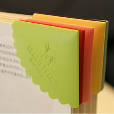 6pcs Personal PU leather bookmark Creative Candy Colored Beard Lace book marker