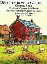 Old-Fashioned Farm Coloring Book Adult Dover Nature fun-filled relaxing reduce