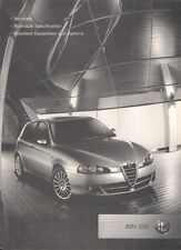 Alfa Romeo 147 2007 UK Market Specification Brochure Turismo Lusso Q2