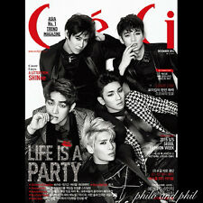 Ceci Korea December 2014 SHINee VIXX SISTAR Girls Generation Sunny - B/WHITE CVR