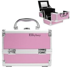 Pro. Cosmetic Organizer Lockable Makeup Train Travel Aluminum Case Jewelry Box