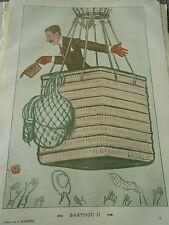 Barthou II nacelle ballon dessin de A Barrère Print Humour