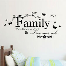 DIY Family Letter Quote Removable Vinyl Decal Art Mural Home Decor Wall Stickers