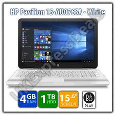 """HP Pavilion 15-AU076SA Intel Pentium 4GB RAM 1TB HDD 15.6"""" Laptop - White - B&O"""