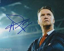 Louis van Gaal In-Person Signed 8x10 Photo PROOF & COA Manchester United Dutch 2