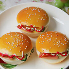 8CM Sesame Squishy Hamburger Bread Scent Soft Bun Refrigerator magnet UK