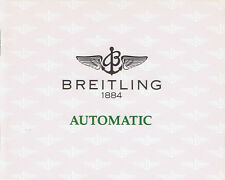 BREITLING AUTOMATIC ANLEITUNG INSTRUCTIONS I456