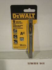 DEWALT DWHT10037 9mm Snap Off Knife-FREE SHIPPING NEW IN SEALED RETAIL PACK