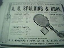 strand magazine advert 1905 - advert a g spalding london sports goods