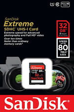 *NEW* SanDisk Extreme 32GB SDHC 80 MB/S 533x UHS-1 SD Class 10 Memory Card 32 GB
