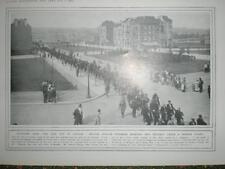 WW1 Photo Belgium prisoners marched into Brussels 1914