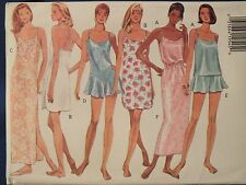 BUTTERICK 3517 Slip Dress~Nightgown~Camisole~Teddy~Panties++ PATTERN 12-14-16 UC