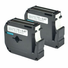 2 Compatible Brother M231 MK-231BZ Black on White Label Tape for P-touch PT-90
