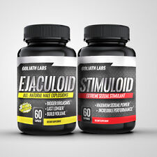 Ejaculoid/Stimuloid Ultimate Sexual Male Enhancement Stack 120 Caps No/Hgh