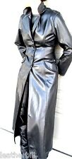 LONG SHINY PVC VINYL TRENCH COAT in BLACK from MORGAN