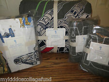 NWT Pottery Barn Kids Star Wars x-wing TIE fighter Full quilt, 2 sham, sheet set