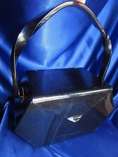 VINTAGE RARE WILARDY DEEP NAVY BLUE LUCITE PURSE WITH ENVELOPE STYLE LID!!!