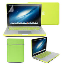 Neon Yellow Frosted Case sleeve Keyboard Cover Screen Protector MacBook Pro 13