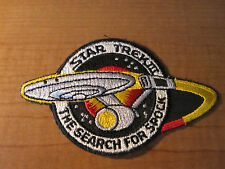 STAR TREK III The Search for SPOCK Embroidered Cloth PATCH