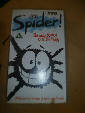 SPIDER - I'm Only Scary Cos I'm Hairy Childrens Kids VHS VIDEO TAPE *503