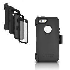 OtterBox iPhone 5S 5 Defender Case & Holster Black Cover w Belt Clip OEM Genuine