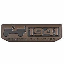 75 Year 1941 Anniversary Metal Emblem Badge for Jeep Wrangler Willys CHEROKEE