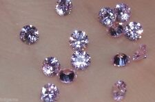 ***Flawless***3mm IF Brilliant Cut Russian Simulated Pink Diamonds