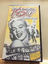 VHS VIDEO THE 1950'S MUSIC MEMORIES AND MILESTONES