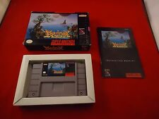 Equinox (Super Nintendo SNES, 1994) COMPLETE w/ Box manual game WORKS!