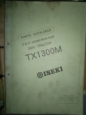 ISEKI microtracteur TX 1300 M - TX1300 M : parts catalogue 1990