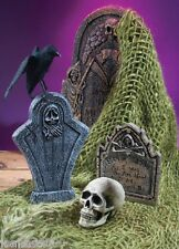 Halloween New Green Creepy Cloth Netting Graveyard Cemetery Tombstone Decoration