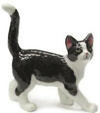 Northern Rose Miniature Porcelain Animal Figure Black & White Kitten R314B