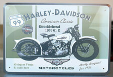 Harley Knucklehead 1936 61 E Motorcycle Metal Tin Sign Wall decor Garage Display