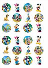 Mickey & Minnie Mouse Fairy cup cake decoration toppers x 24 on ICING