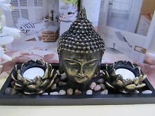 NEW -Chinese Figure of Buddha- double Lotus Candle Craft Ornaments