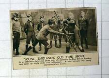 1920 Young East End Boys Practising Fighting With Single Sticks