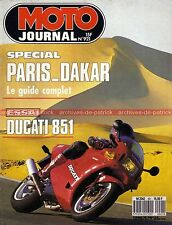 MOTO JOURNAL  921 DUCATI 851 YAMAHA XT 500 BMW GS SUZUKI 370 SP PARIS DAKAR 1990