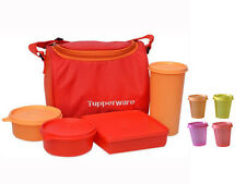TUPPERWARE BEST LUNCH BOX WITH INSULATED BAG WITH 4 PCS MIDGETS FREE