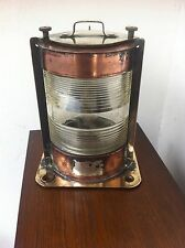Antique Copper,Brass & Glass Electric Ship/Marine Boat Lantern Lamp No 983