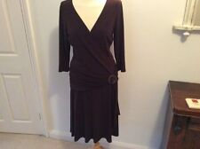 Stunning LAUNDRY BY SHELLY SEGAL  Chocolate Brown Dress Size 10