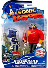 Sonic Boom 2 Pack Plastic Figures - Dr. Eggman And Metal Sonic