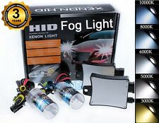 Xenon 55W HID Fog Light Lamp Bulbs Conversion Kit - H10 9145 10K 10000K Blue (w)