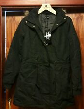 LADIES HOODED PARKA FLEECT TOP  WINTER WARM WOMENS LONG JACKET COAT UK SIZE 10