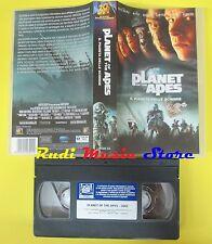 film VHS IL PIANETA DELLE SCIMMIE 2002 tim burton PLANET OF APES (F40**)no dvd