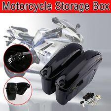 Black Hard Saddle Bags Trunk Saddlebags Luggage Motorcycle for Harley US Stock