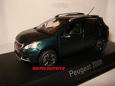NEW NOREV PEUGEOT 2008 EMERALD CRYSTAL BLUE 2016 au 1/43°