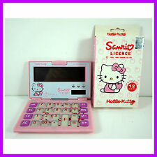 NEW Desktop Solar Powered Portable Office Basic Calculator Pink For Hello Kitty
