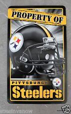 New NFL Licensed Pittsburgh Steelers Property Sign Plastic Decor Football League